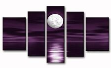 Luxurious 7 PCS XL Eggplant Purple/Black silver stripe Chenille Comforter Set.