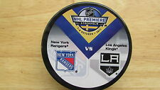 2011 NHL Premiere Dueling Puck New York Rangers / L.A. Kings