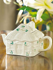 Belleek Tableware Shamrock Irish Cottage Tea Pot & Lid