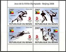 {K} Benin 2008 Olympics Games Beijing 2008 Taekwondo Swimming sheet of 8 MNH**