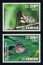 Samoa 2015 Butterflies Express Mail Service Postage Stamp Set Issue