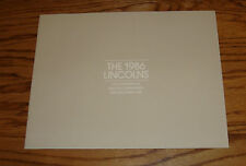 Original 1986 Lincoln Full Line Sales Brochure 86 Mark VII Continental Town Car