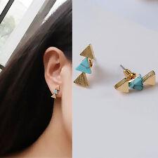 1Paire Boucles d'Oreilles Modèle de Triangle Géométrique Style de Bohême