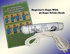 Magic Tricks - Magician's Rope & Rope Magic Book - New!