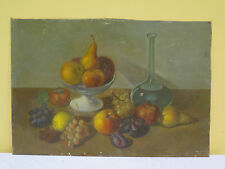 QUADRO ANTICO NATURA MORTA FRUTTA SU UNA TAVOLA DIPINTO Antique oil painting