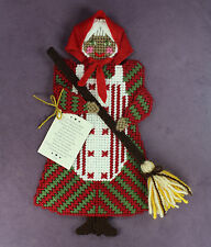 GOOD LUCK KITCHEN WITCH Gingerbread Doll House Elf Fairy Angel Yarn Wall Decor