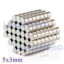 25 X Strong Round Disc Magnet 5mm x 3mm Rare Earth Neodymium No. 1703