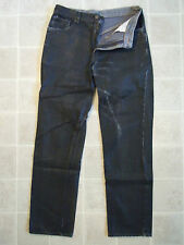 EDWIN Slick Wet Shiny Denim PANTS Mens 34x32 Black Jeans Japan American Classic