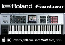 Roland Fantom Sample Pack, over 5,000 WAVs for Mac or PC, 3 GB