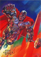 1994 Skybox DC Master Series Trading Card #4 Steel NM(+)