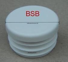 10 runde Lamellenstopfen  Ø 10 mm WS 1-2,5 mm Farbe WEISS Endkappen