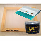 Value Screen Printing Kit A3 frame 43T 77T 90T 120T + Alloy Squeegee + 120ml ink