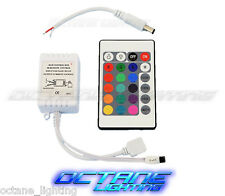 24 Key 16 Color IR Remote Control Controller SMD RGB LED Strip 12V 1-Head Flat