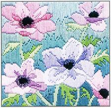 Derwentwater Designs Purple Anemonies Silken Long Stitch Kit
