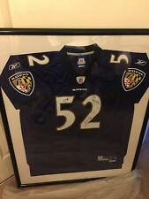 Signed Ray Lewis Jersey Framed Signatures include Ray Lewis, Ed Reed and T.Suggs