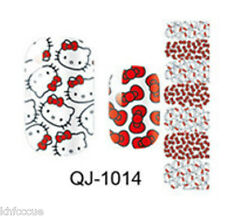 Hello Kitty Red Bow Nail Wrap Sticker Nail Art Decals K439