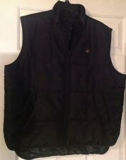 Mens Rocawear Layer Up Solid Black Polyester Down Vest Jacket XL * Ships Free