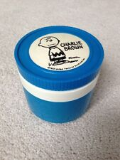 Vintage 1952 Peanuts Blue CHARLIE BROWN THERMOS Insulated Food Container RARE!!!