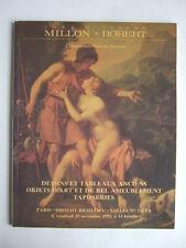 CATALOGUE VENTE ENCHERES 1991 MILLON, DESSINS TABLEAUX OBJETS D'ART TAPISSERIES