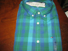 NWT MENS TOMMY HILFIGER CASUAL LONG SLEEVE oxford BUTTON DOWN SHIRT LARGE L
