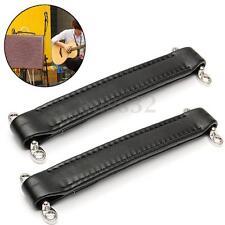 Black Guitar AMP Amplifier Speaker Leather Handle Strap for AMPS