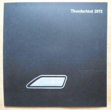 Ford Thunderbird Orig 1973 Usa Mkt Gran Formato Prestige Venta Folleto Catálogo