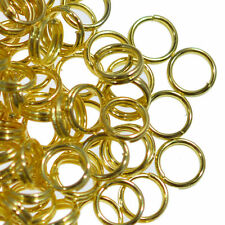 200 Gold Plated Split Double Loop Metal Jump Rings 5mm Jewellery Making