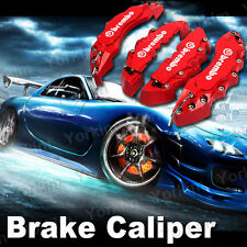 Red Brembo Style Universal Disc Brake Caliper Covers 4pcs Front and Rear - co10