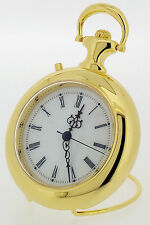 Novelty Miniature Pocket Watch Style Clock in Gold Tone with Melody