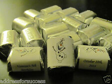 60 Personalized Disney Frozen Olaf Candy Hershey Nugget  Wrappers