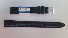 BRACELET MONTRE CUIR NOIR 12mm  /10 x 7cm  REF VK85 ANTIALLERGIQUE BA