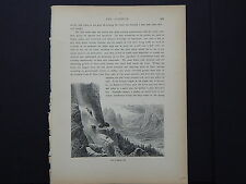 One In-Text Engraving, c 1872 S4#144 Foot of Sentinel Fall, California