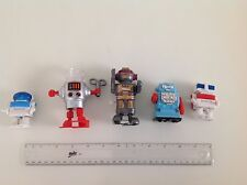 Vintage Friction LITTLE ROBOT, Hong Kong and 4 other small robot toys