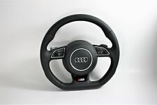 NEW AUDI S5 MULTIFUNCTION SHIFT PADDLES FLAT BOTTOM STEERING WHEEL WITH AIRBAG