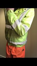 Hi Viz Yellow Waterproof Bomber  Jacket Hi Vis Work Coat Size Large