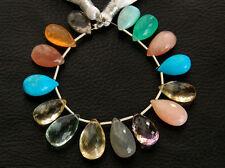 86ctw Ametrine Fire Opal Fluorite Moonstone Sunstone Turquoise Pear Beads