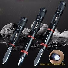 1000 LM LED Survival Flashlight Knife Outdoor Waterproof Portable Torch 163mm