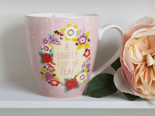 A LOVELY CUP OF TEA Large Fine China MUG