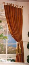 2 New Velvet Window Panels Drapes Curtains Beaded Tie Tops 54 X 90 Lined Boho