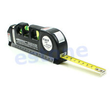 8FT Multipurpose Level Laser Horizon Vertical Measure Tape Aligner Bubbles Ruler
