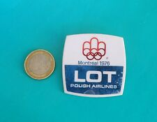 LOT ( Polish Airlines ) - OLYMPIC GAMES MONTREAL 1976.  -  large pin badge  RRR