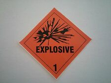 A Pair of 4 x 4 Explosive Decal Gun Safe Sticker DOT Label Man Cave Ammo Warning