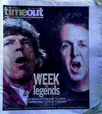 MICK JAGGER / P. McCARTNEY - STAR MAG / TIMEOUT SUPPLEMENT - CVR STORY -10/24/02