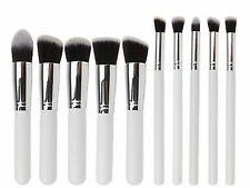 10pcs Kabuki Blusher Powder foundation Contour Face eye Make Up Brushes set tool