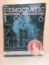 DEMOCRATIC NATIONAL CONVENTION BOOK 1936
