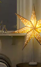 Standing White star with grey accents 2016 Xmas light lamp 70cm