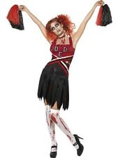 ADULT FEMALE HIGH SCHOOL HORROR CHEERLEADER HALLOWEEN SMIFFYS COSTUME - SMALL