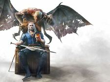 POSTER THE WITCHER 2 3 WILD HUNT WOLF LUPO GERALT OF RIVIA VIDEOGAME FANTASY #8