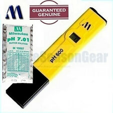 Milwaukee PH600 + pH 7 Solution, Digital Water pH Meter/Tester/Hydroponic/Pool