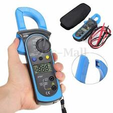 Digital Clamp Multimeter OHM Amp Meter AC LCD Current Voltage Resistance Tester